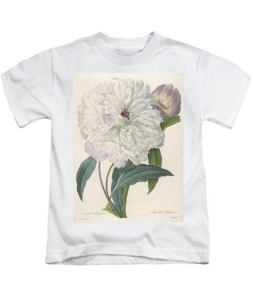 Paeonia Flagrans Peony Kids T-Shirt