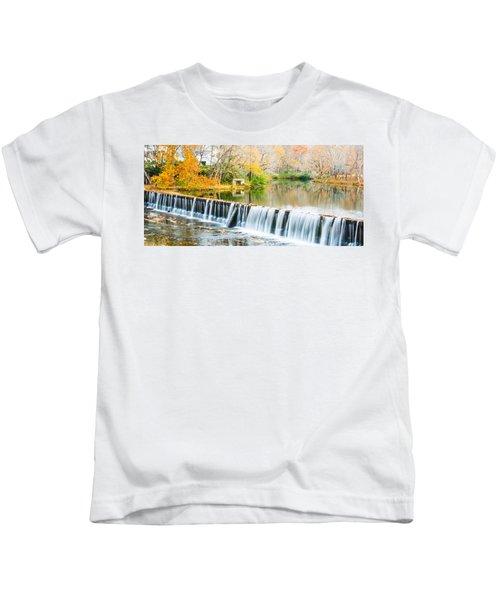 Panorama Of Buck Creek In Autumn Kids T-Shirt