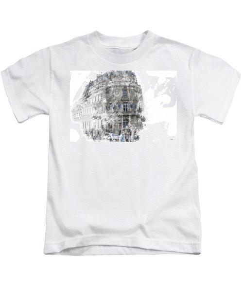 Paris With Flags Kids T-Shirt