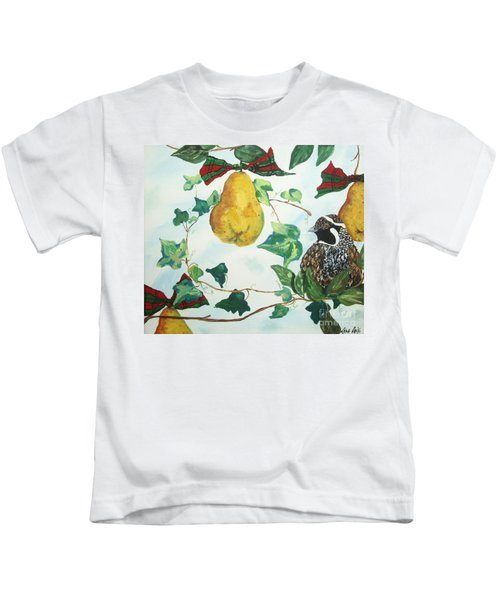 Partridge And  Pears  Kids T-Shirt