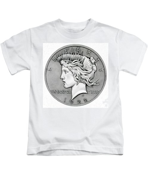 Graphite Peace Dollar Kids T-Shirt