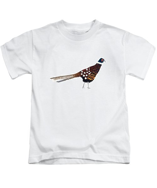 Pheasant Kids T-Shirt by Isobel Barber