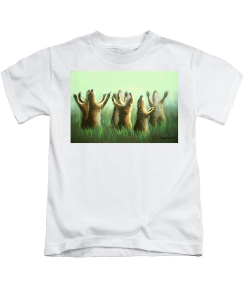 Praising Prairie Dogs Kids T-Shirt