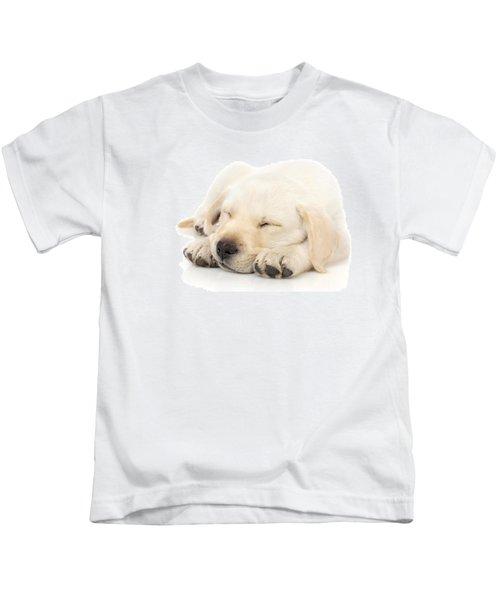 Puppy Sleeping On Paws Kids T-Shirt