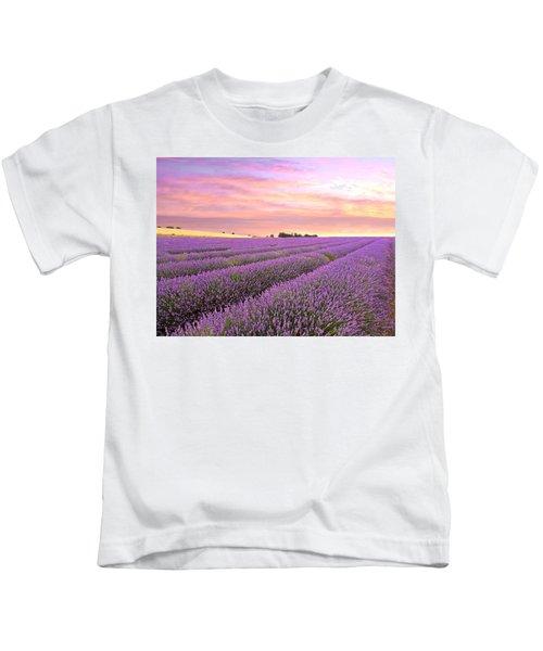 Purple Haze - Lavender Field At Sunrise Kids T-Shirt