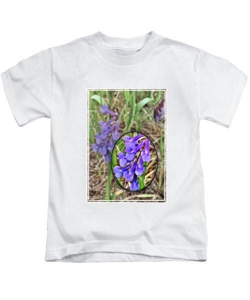 Purple Wildflowers Kids T-Shirt