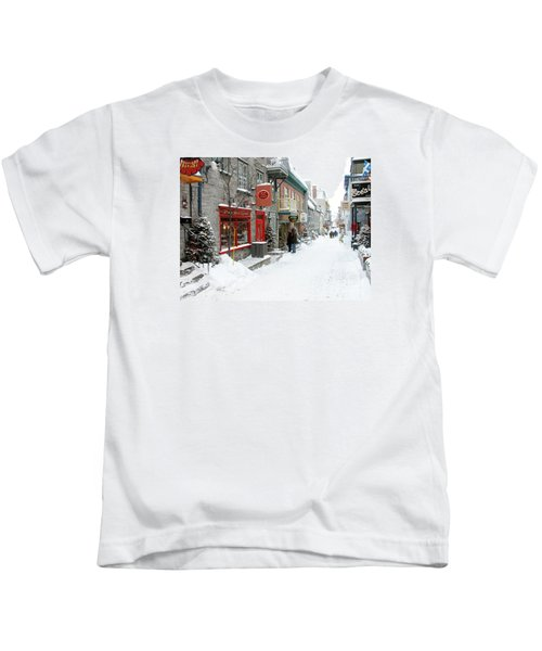 Quebec City In Winter Kids T-Shirt