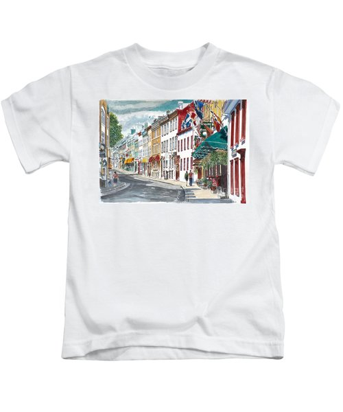 Quebec Old City Canada Kids T-Shirt