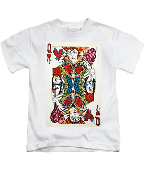 Queen Of Hearts - Wip Kids T-Shirt