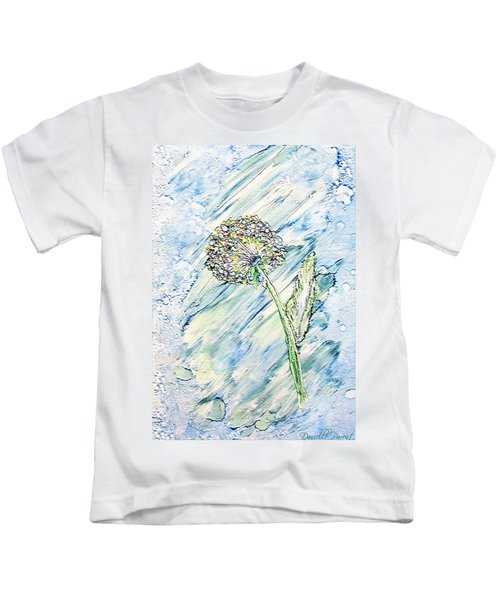 Rainbow And Blue Dandelion Alcohol Inks  Kids T-Shirt
