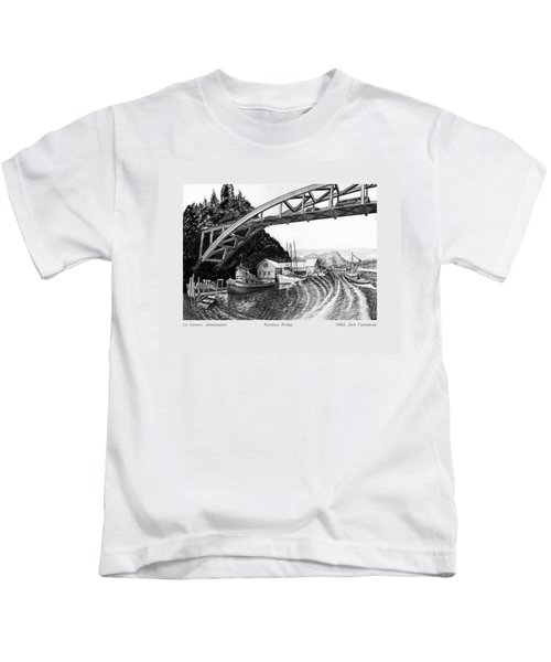 Rainbow Bridge La Connor W A Kids T-Shirt