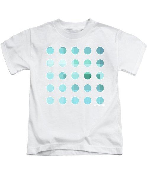 Rainbow Dots Aqua  Kids T-Shirt