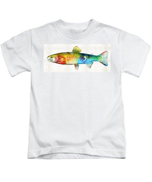 Rainbow Trout Art By Sharon Cummings Kids T-Shirt