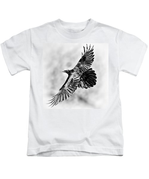 Raven Of Death Valley Kids T-Shirt
