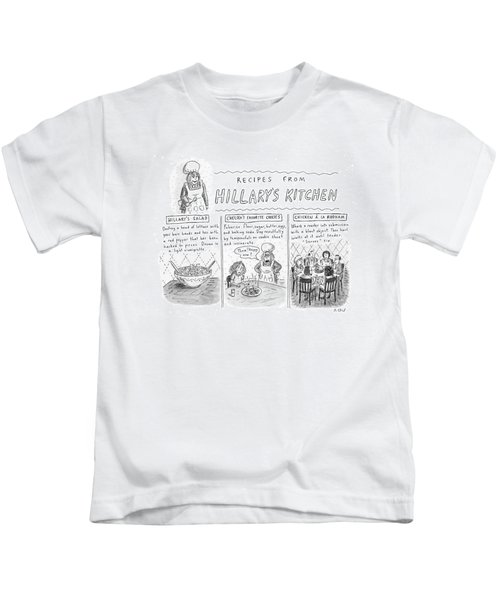 'recipes From Hillary's Kitchen' Kids T-Shirt
