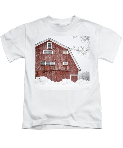 Red Barn Whiteout Kids T-Shirt