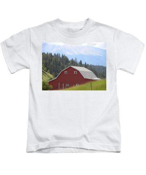 Barn - Pikes Peak Burgess Res Divide Co Kids T-Shirt
