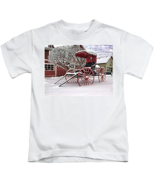 Red Buggy At Olmsted Falls - 1 Kids T-Shirt