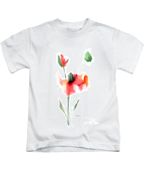 Red Flowers Kids T-Shirt