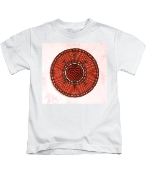 Red Heart Turtle Kids T-Shirt