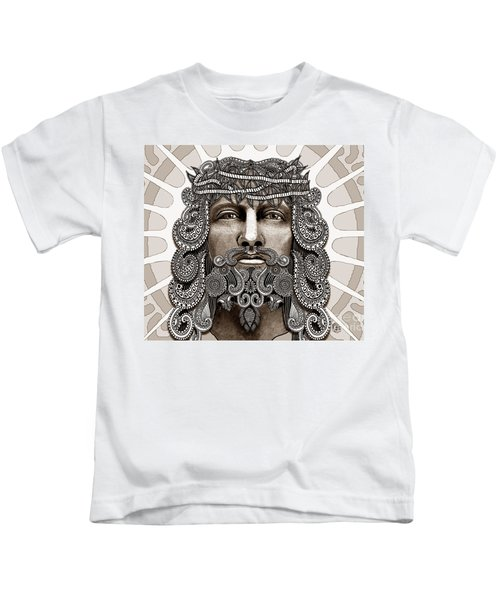 Redeemer - Modern Jesus Iconography - Copyrighted Kids T-Shirt