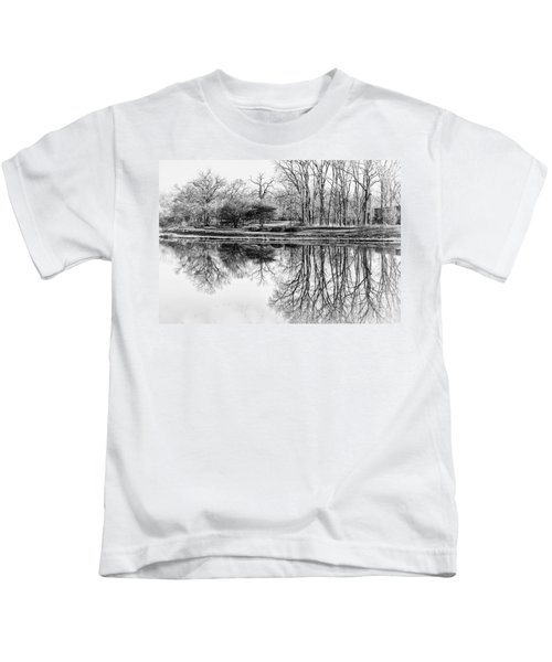 Reflection In Black And White Kids T-Shirt