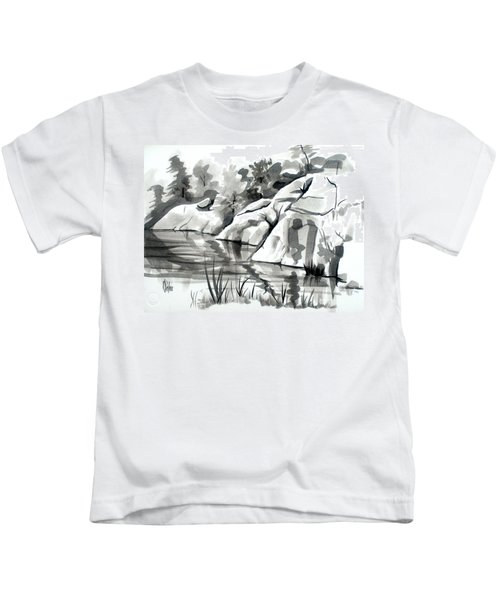 Reflections At Elephant Rocks State Park No I102 Kids T-Shirt
