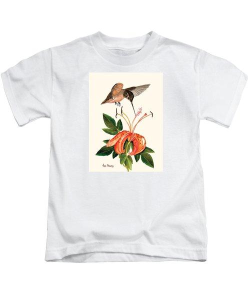 Refueling In Flight Kids T-Shirt