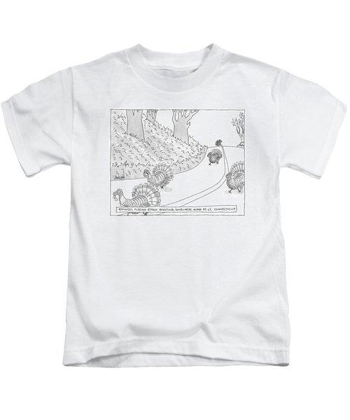 Refugees Fleeing Ethnic Roasting Somewhere Kids T-Shirt