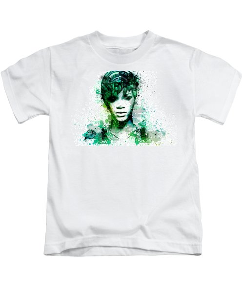 Rihanna 5 Kids T-Shirt by Bekim Art