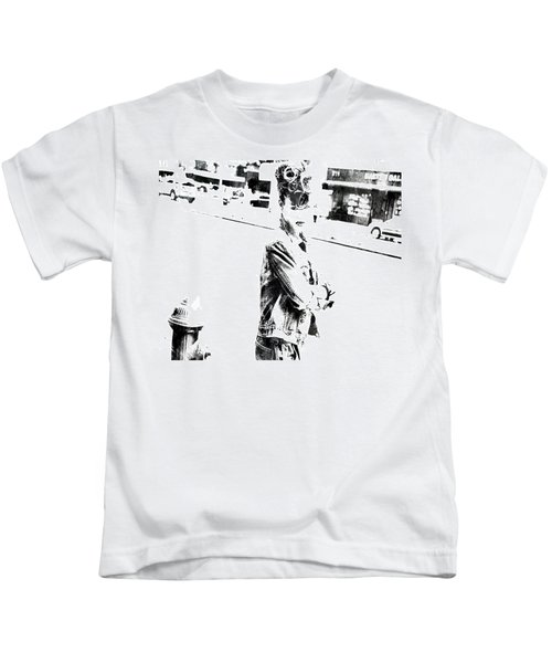 Rihanna Hanging Out Kids T-Shirt by Brian Reaves