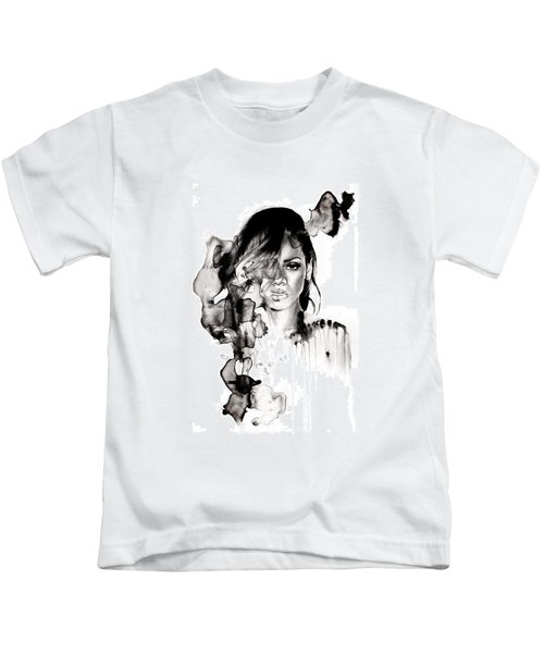 Rihanna Stay Kids T-Shirt by Molly Picklesimer