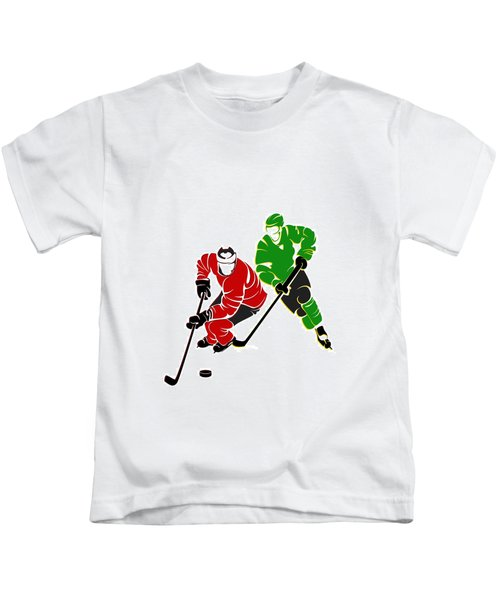 Rivalries Blackhawks And North Stars Kids T-Shirt