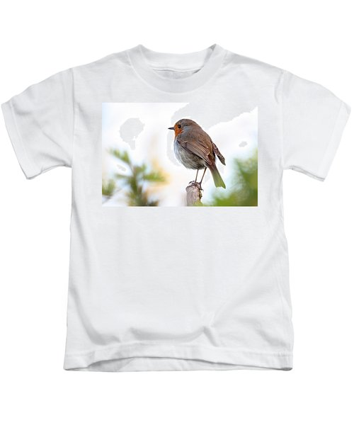 Robin On A Pole Kids T-Shirt