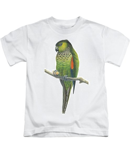 Rock Parakeet Kids T-Shirt by Anonymous