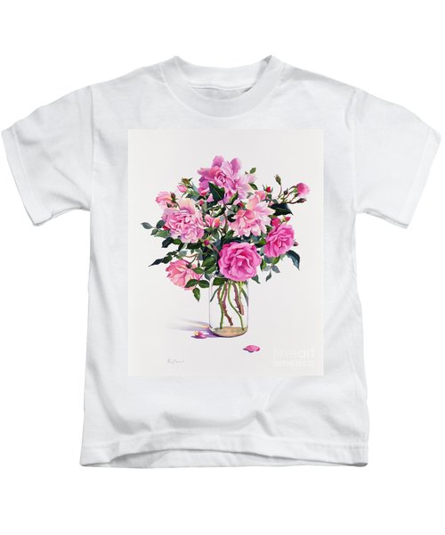 Roses In A Glass Jar  Kids T-Shirt