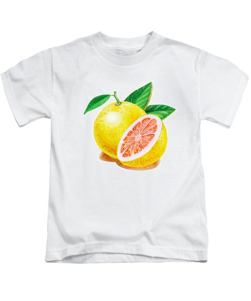 Ruby Red Grapefruit Kids T-Shirt by Irina Sztukowski