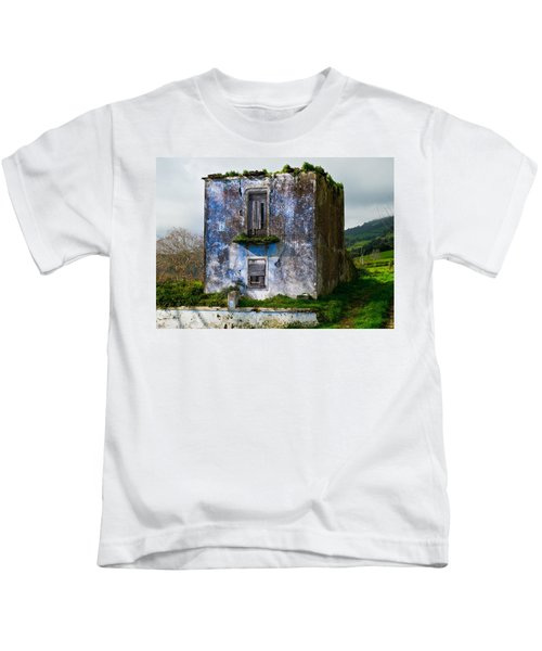 Ruins Of House Painted Blue Kids T-Shirt