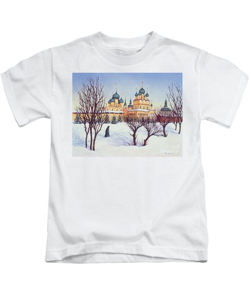 Russian Winter Kids T-Shirt by Tilly Willis
