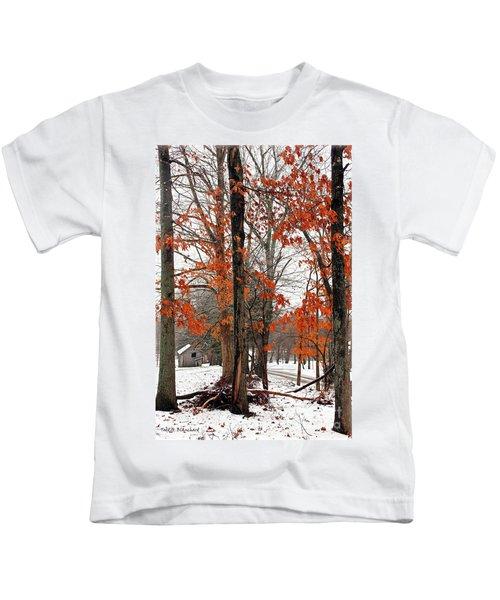 Rustic Winter Kids T-Shirt