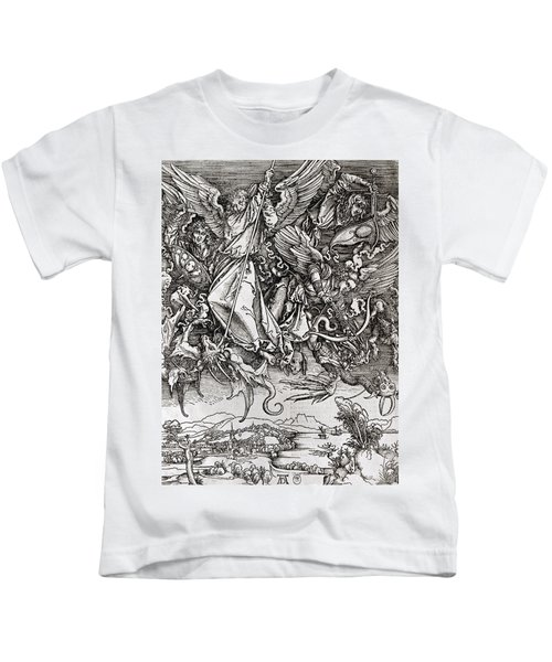 Saint Michael And The Dragon Kids T-Shirt