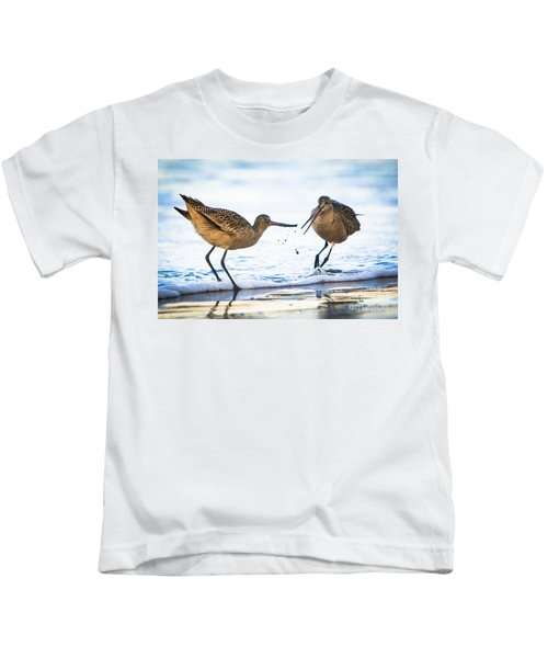 Sanderlings Playing At The Beach Kids T-Shirt