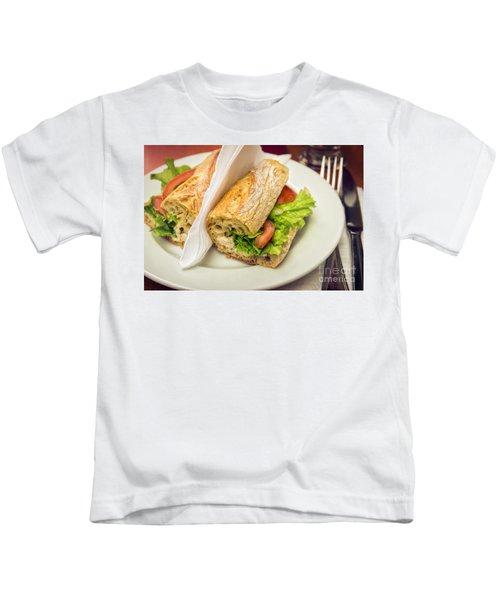 Sandwish On Table Kids T-Shirt by Carlos Caetano