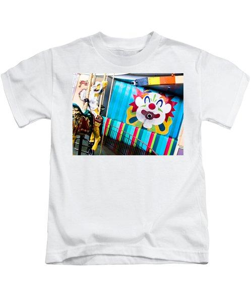 Santa Cruz Boardwalk Carousel Kids T-Shirt