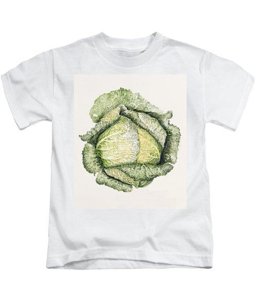 Savoy Cabbage  Kids T-Shirt by Alison Cooper