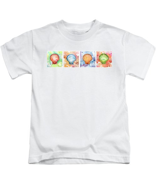 Sea Shells In Contrast Kids T-Shirt