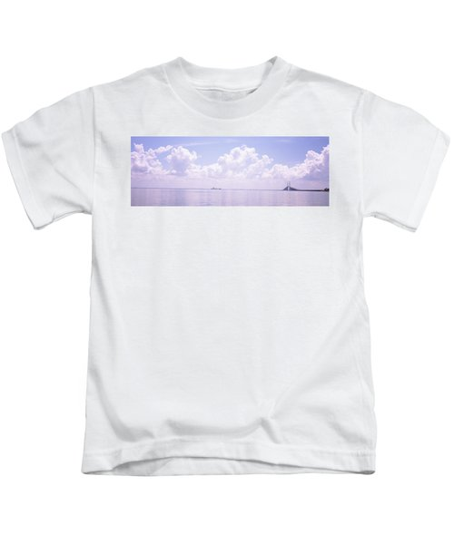 Sea With A Container Ship Kids T-Shirt