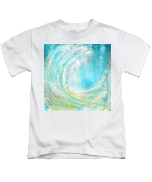 Seascapes Abstract Art - Mesmerized Kids T-Shirt