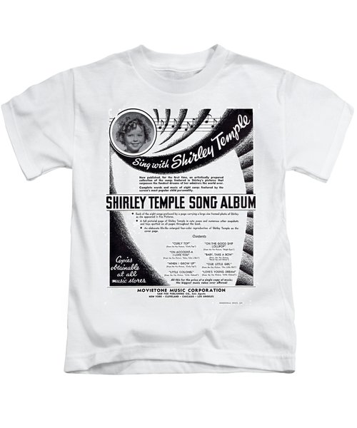 Shirley Temple Song Album Kids T-Shirt by Mel Thompson