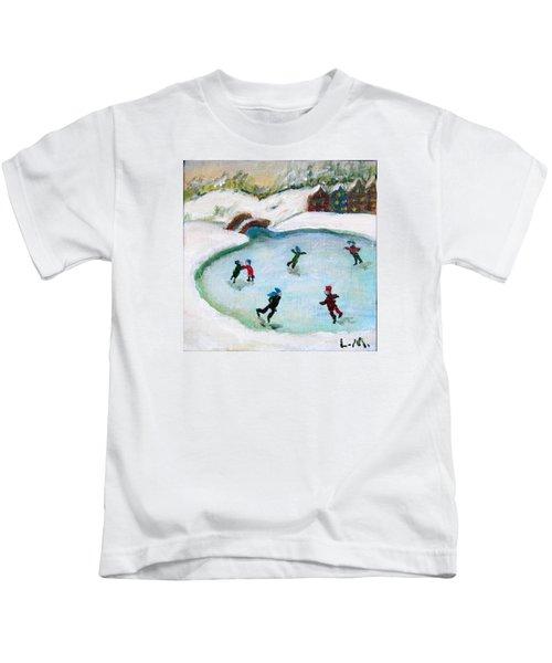 Skating Pond Kids T-Shirt